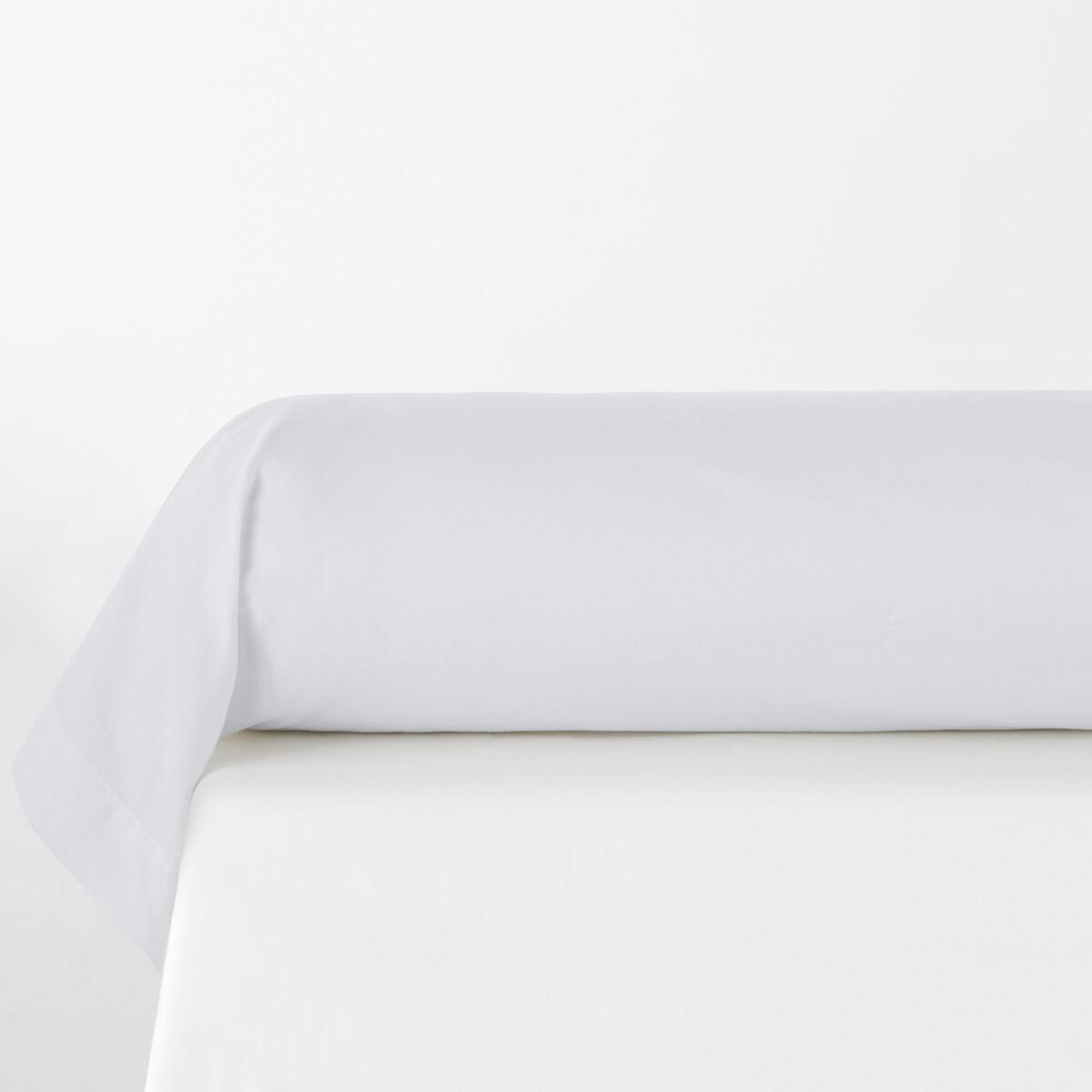 Фото - Наволочка LaRedoute На подушку-валик однотонная из стираного хлопка Scenario 85 x 185 см белый простыня laredoute однотонная из стираного хлопка mirni 240 x 290 см белый