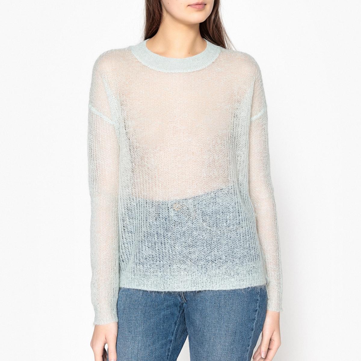 Пуловер из трикотажа с пуговицами по бокам