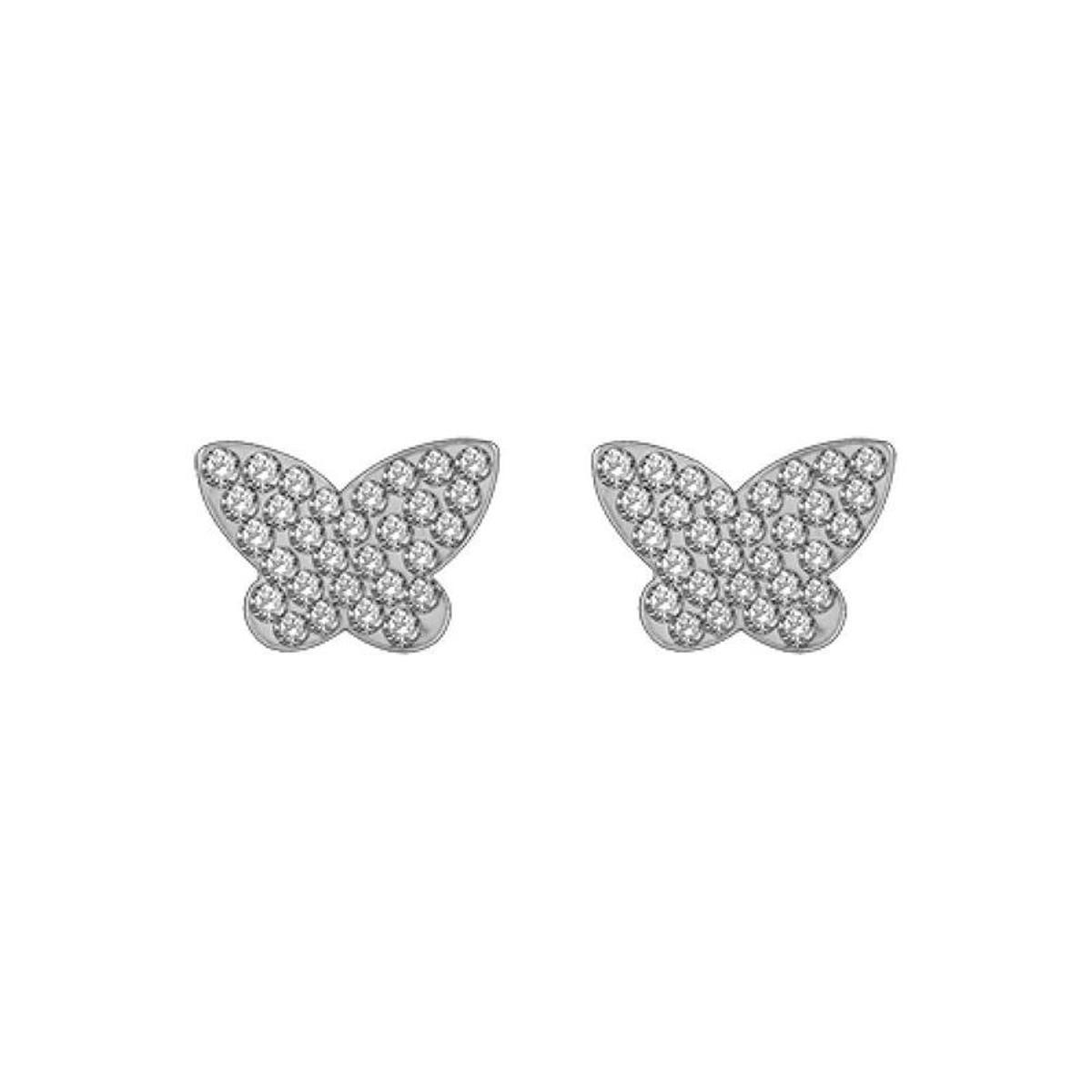 Boucles d'oreilles Papillon Argent 925