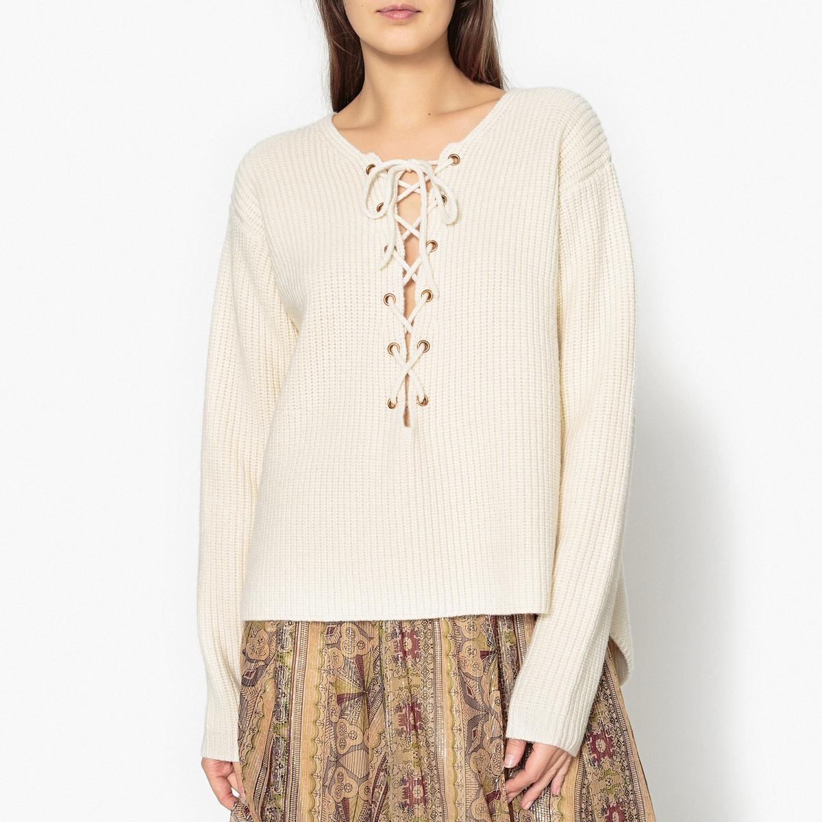 Пуловер из плотного трикотажа с круглым воротником JACQUOV