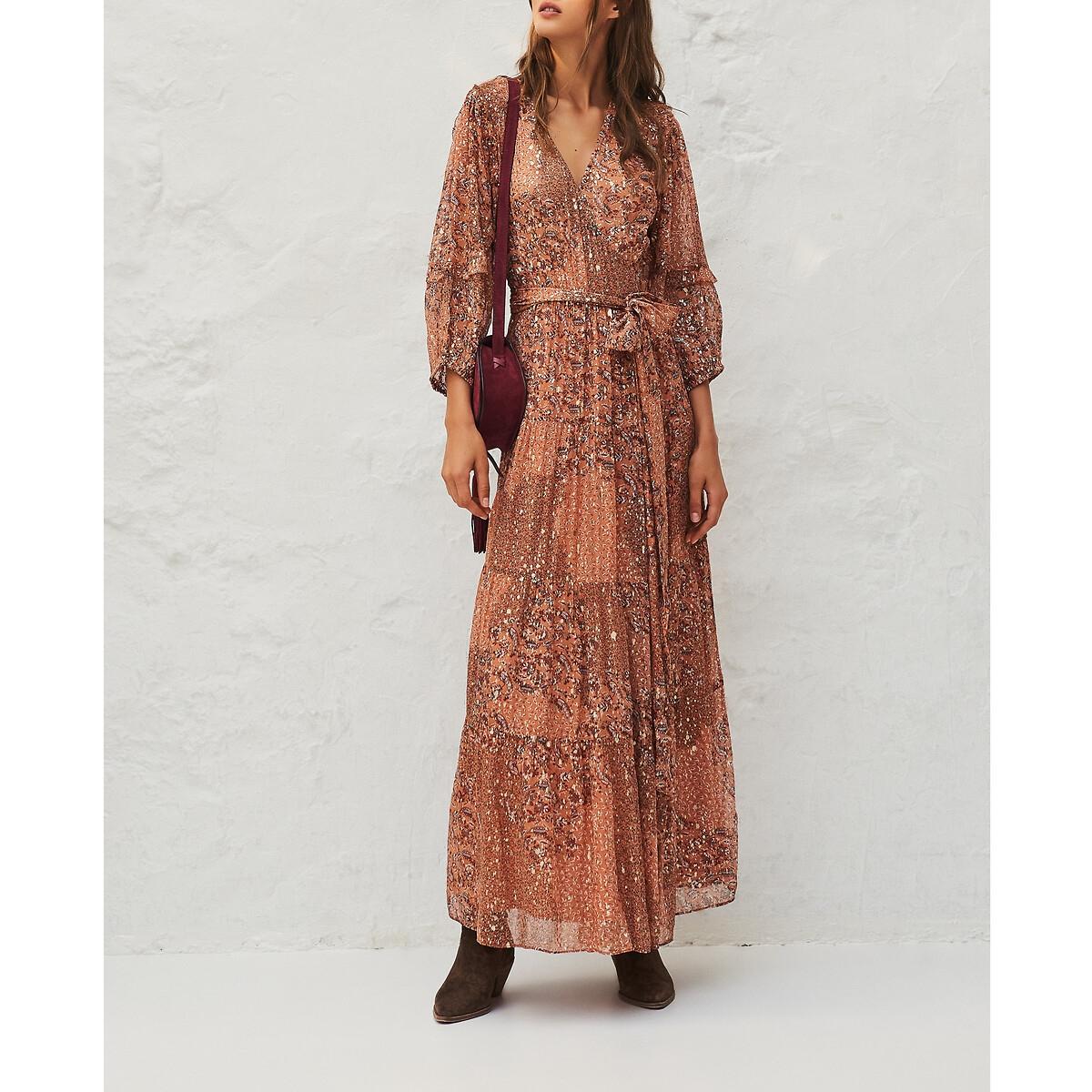Платье LaRedoute Длинное ORIA 1(S) розовый