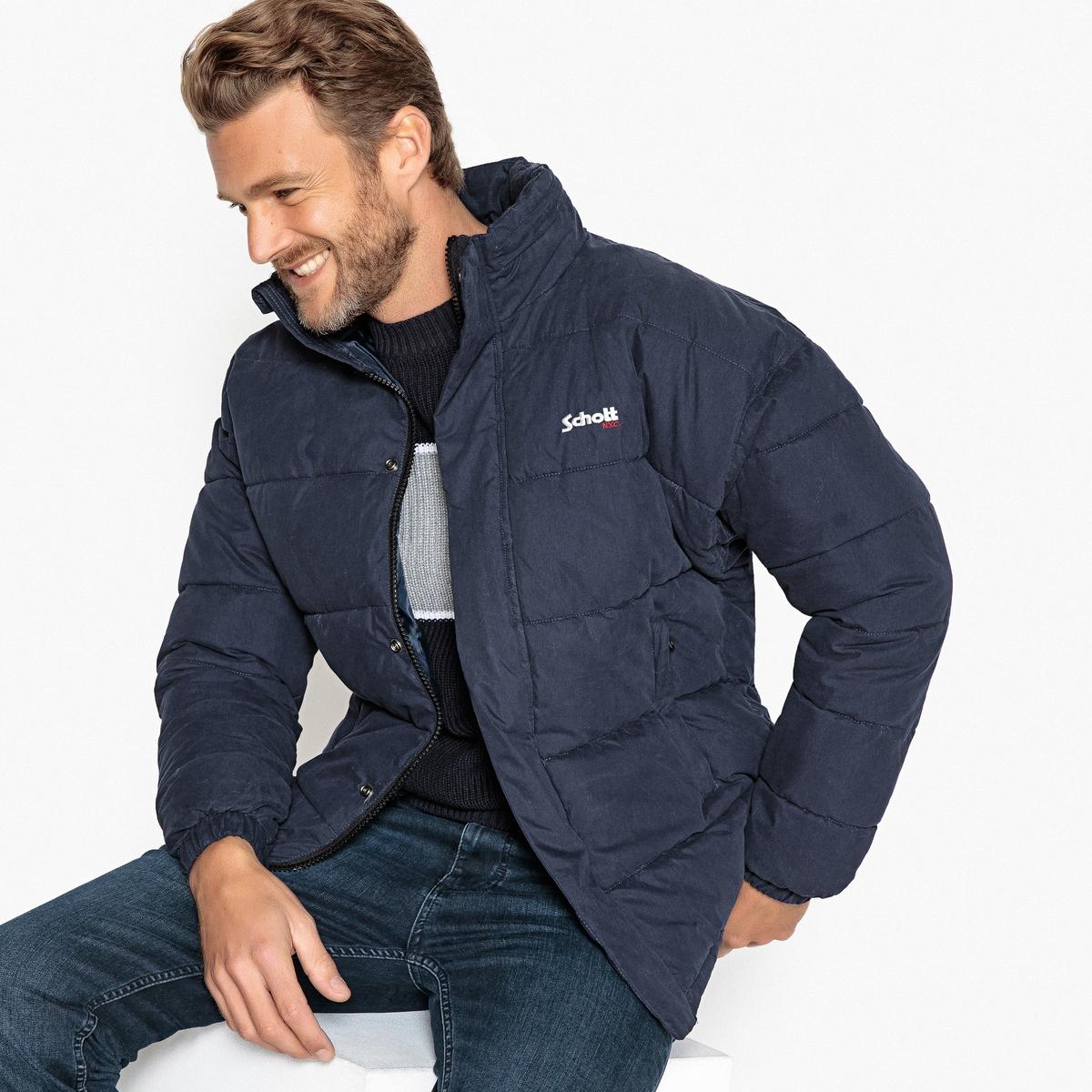 Куртка стеганая короткая NEBRASKA с воротником-стойкой на молнии куртка стеганая короткая с леопардовым принтом
