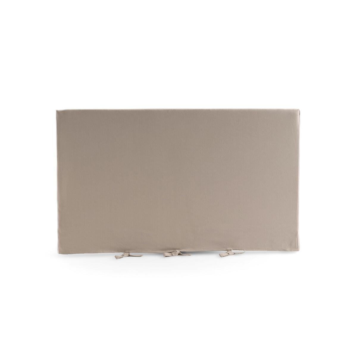 Чехол LaRedoute На изголовье прямой из 100 хлопка Panama 180 x 85 см бежевый