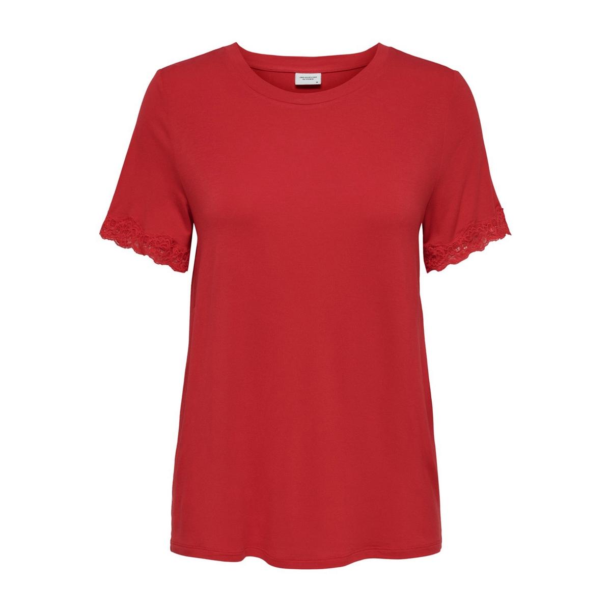 цена Футболка La Redoute С короткими рукавами L красный