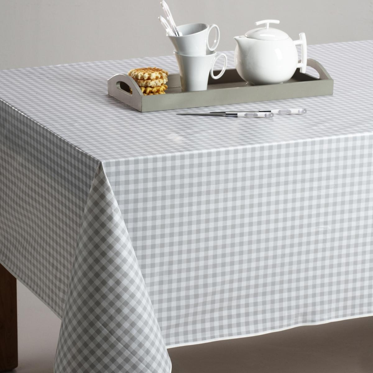 Скатерть в клетку виши, 100% хлопок с окрашенными волокнами, GARDEN PARTYВсегда модный рисунок в деревенском стиле, 3 цвета, для повседневного использования !  Машинная стирка при 40 °С.Текстиль для столовой, 100% хлопок с окрашенными волокнами : гарантия качества и долговечности.<br><br>Цвет: серый/ белый<br>Размер: 150 cm