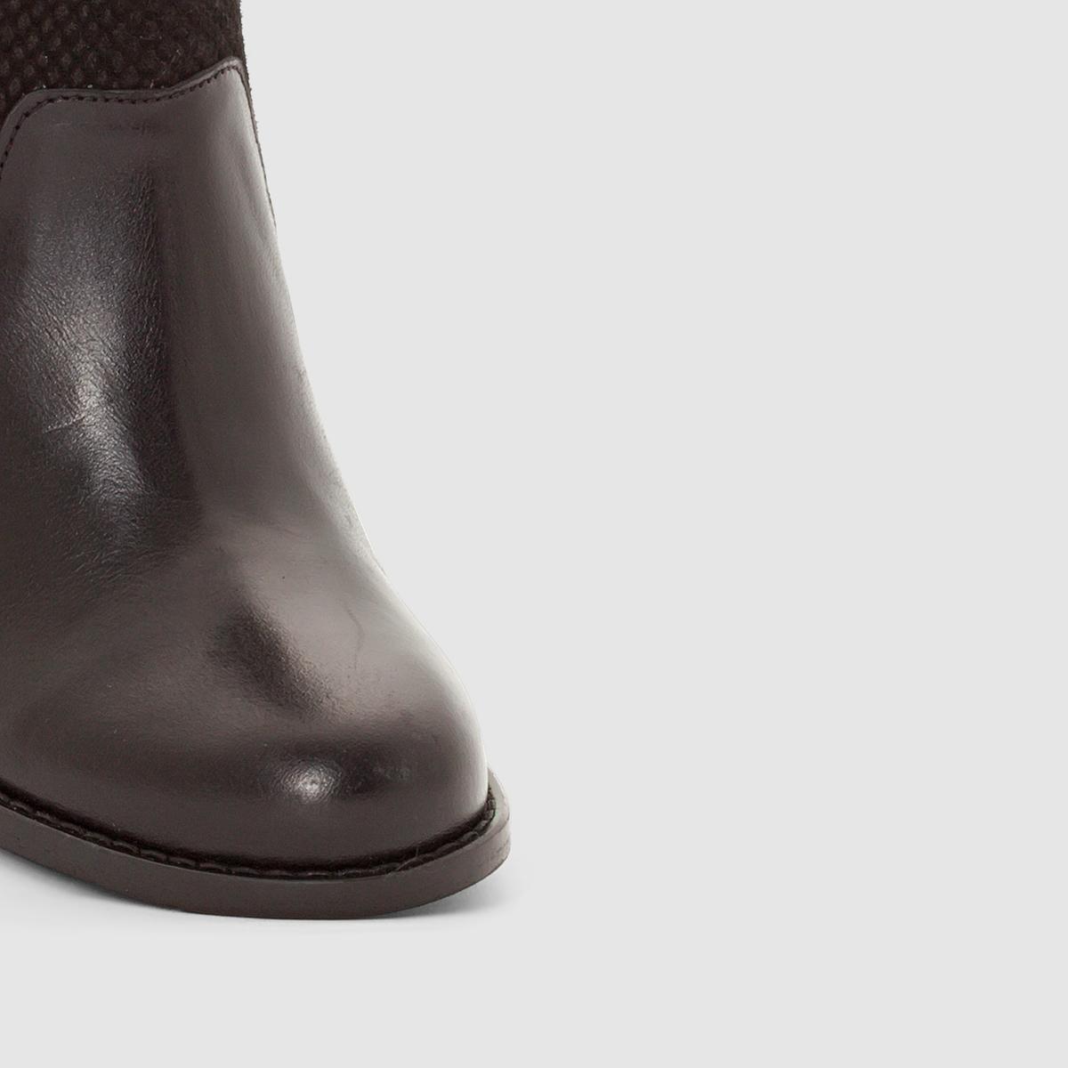 Ботильоны кожаные на каблуке AradelloПодкладка: Свиная кожа   Подошва : Синтетический материал    Высота каблука : 7 - 9 см   Застежка : на молнию<br><br>Цвет: черный