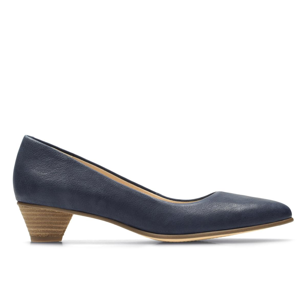 Туфли кожаные Mena BloomОписание:Детали •  Широкий каблук •  Высота каблука : 3,5 см. •  Застежка : без застежки •  Заостренный мысок •  Гладкая отделкаСостав и уход •  Верх 100% кожа •  Подкладка 100% текстиль •  Стелька 100% кожа •  Подошва 100% каучук<br><br>Цвет: синий морской,черный