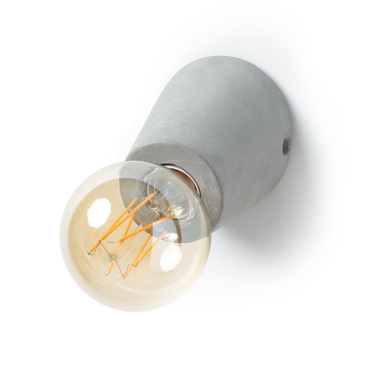 Бра из бетона, SynopsieБра Synopsie. Скромная и красивая коническая форма, из бетона. Использовать с декоративными лампами, представленными на нашем сайте, для теплого янтарного цвета.Характеристики : - Основание из бетона- Патрон E27 для флуокомпактной лампы 15 Вт макс. (представлена на нашем сайте)- Совместима с лампами класса энергопотребления A.- Поставляется в собранном виде  Размеры :- ? 11 x В.11,5 см<br><br>Цвет: серый