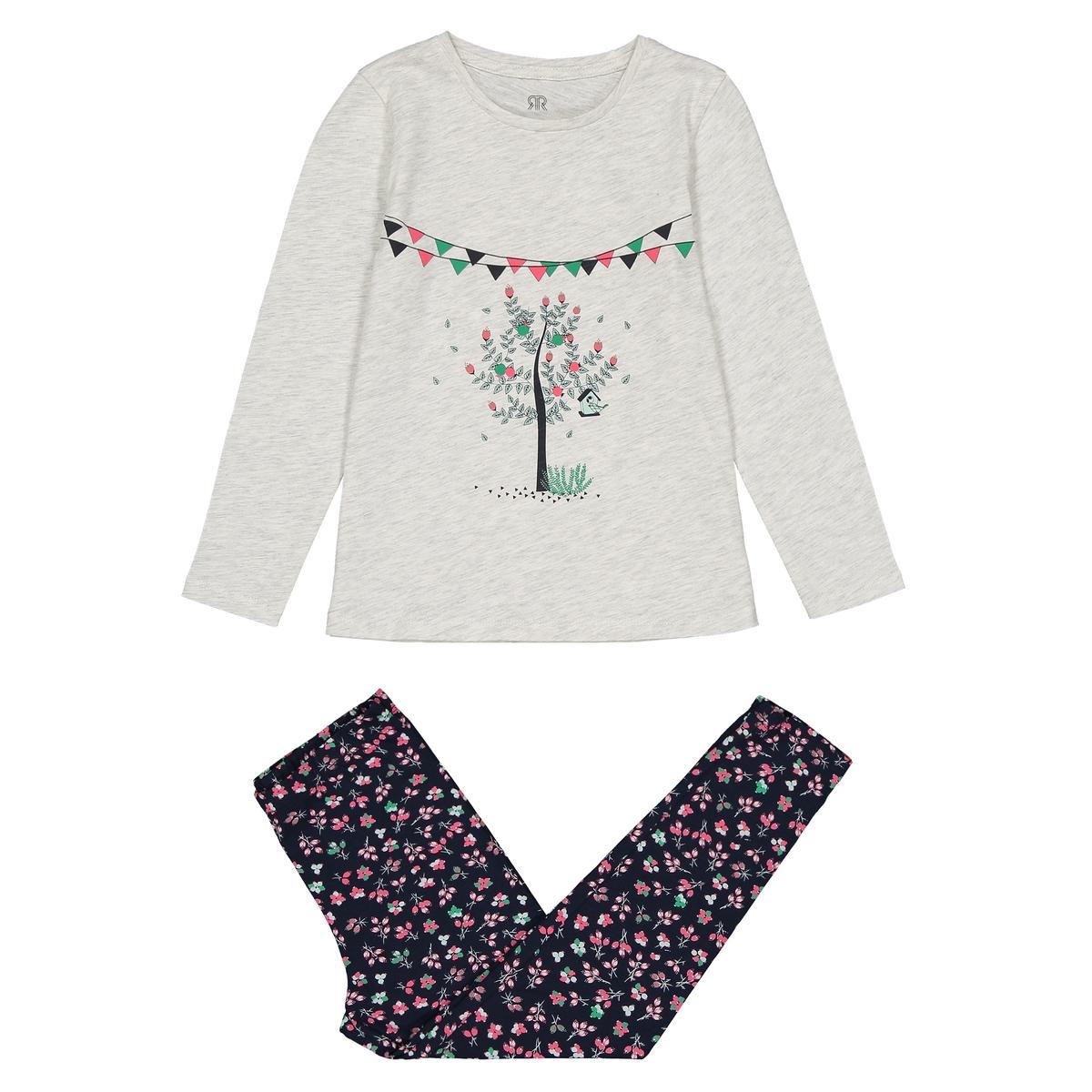 Пижама с футболкой и леггинсами, 3-12 лет La Redoute Collections