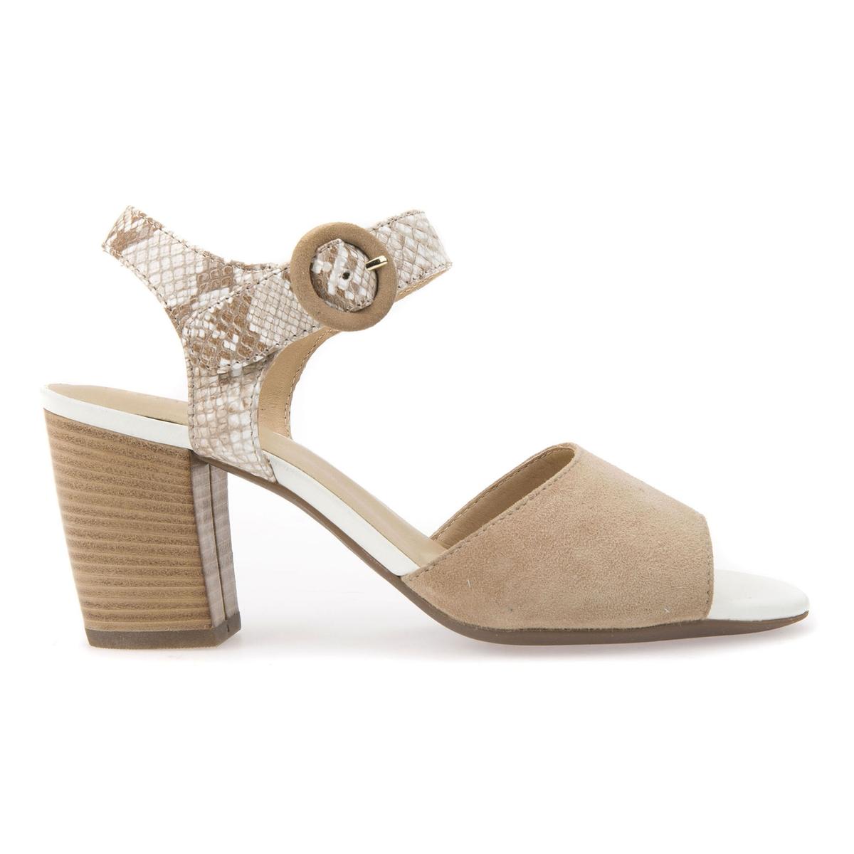 Sandalias de piel con tacón D EUDORA C