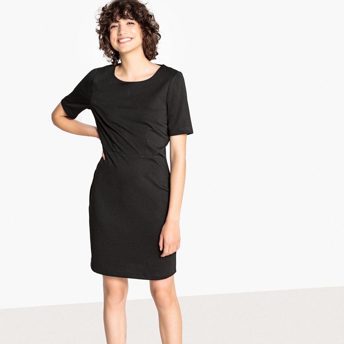 Платье La Redoute Короткое с рисунком вырезом-лодочкой и короткими рукавами 34 (FR) - 40 (RUS) черный