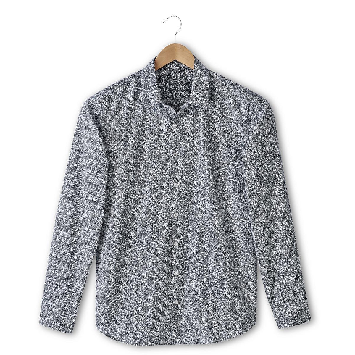 Рубашка с рисунком облегающего покроя
