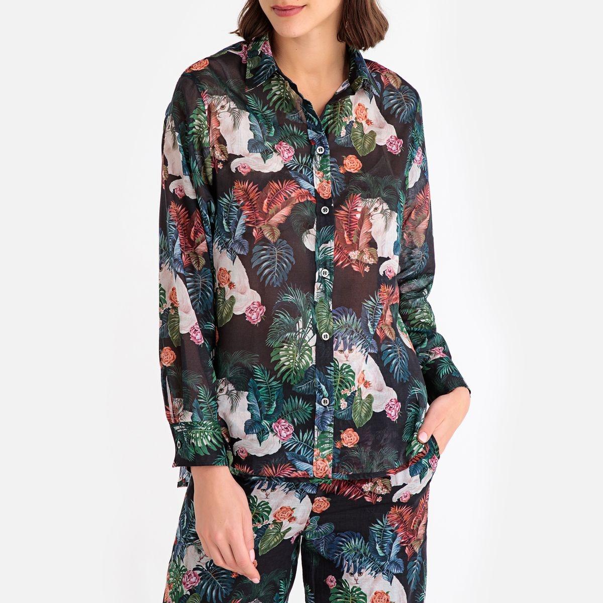 Chemise à fleurs, manches longues GAZOUILLE