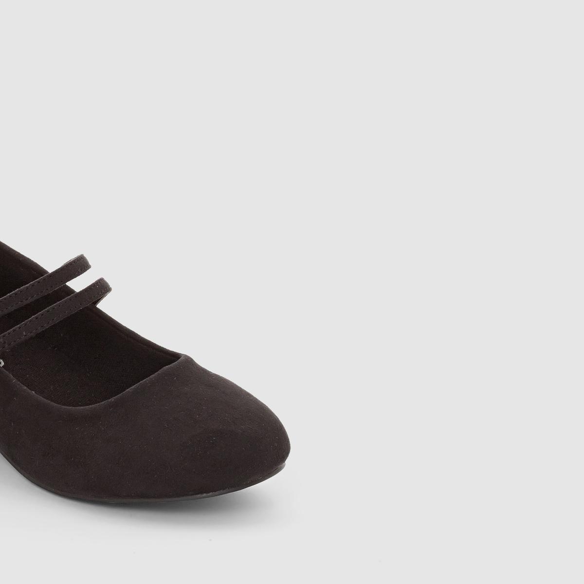 Балетки с двойным ремешком на маленьком каблуке с блесткамиБалетки с двойным ремешком на маленьком каблуке с блестками, abcd R .Верх : синтетика.Подкладка : текстильСтелька : текстильПодошва : из эластомераЗастежка : ремешокВысота каблука : 2 см  2 ремешка придают изысканную нотку и обеспечивают отличную поддержку, маленький каблук с блестками выглядит очень стильно : Оригинальные балетки, сочетающие роскоши и стиль !<br><br>Цвет: черный