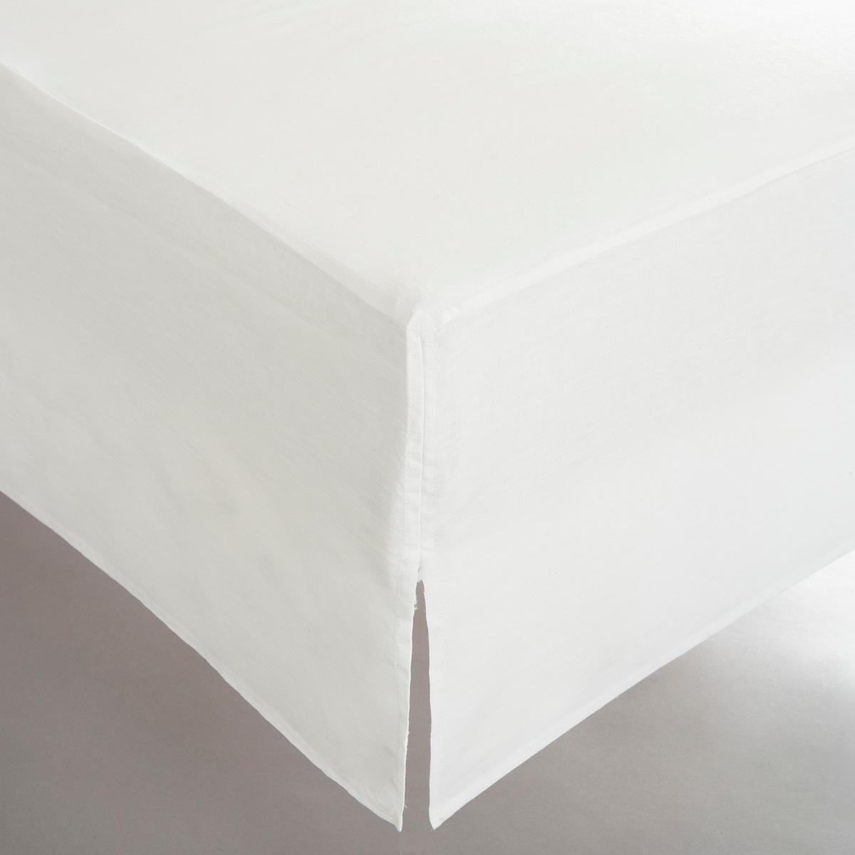 Чехол La Redoute Для кровати льна 90 x 190 см белый кровать la redoute с основой под матрас trianon 140 x 190 см белый