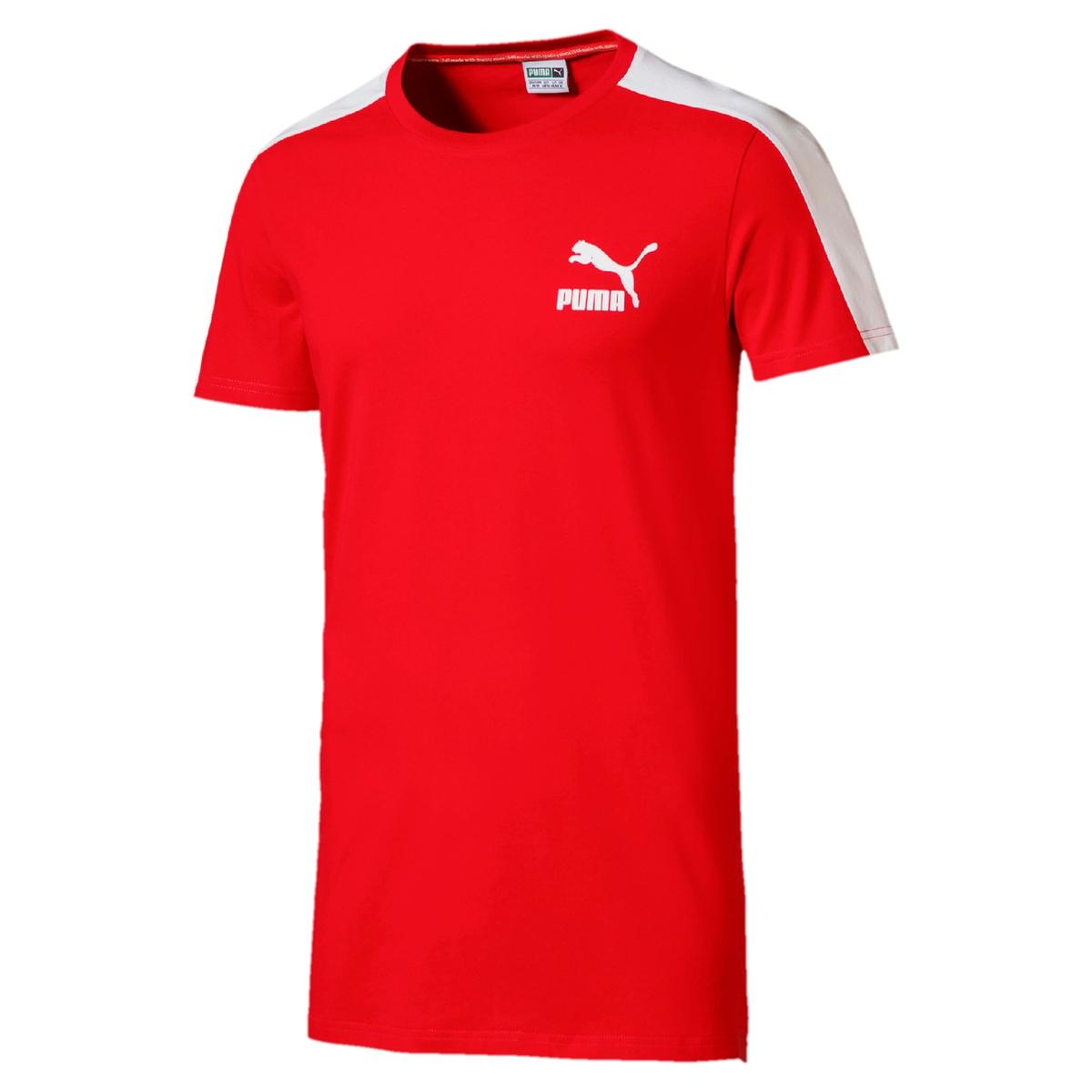 T-shirt lisa com gola redonda, mangas curtas