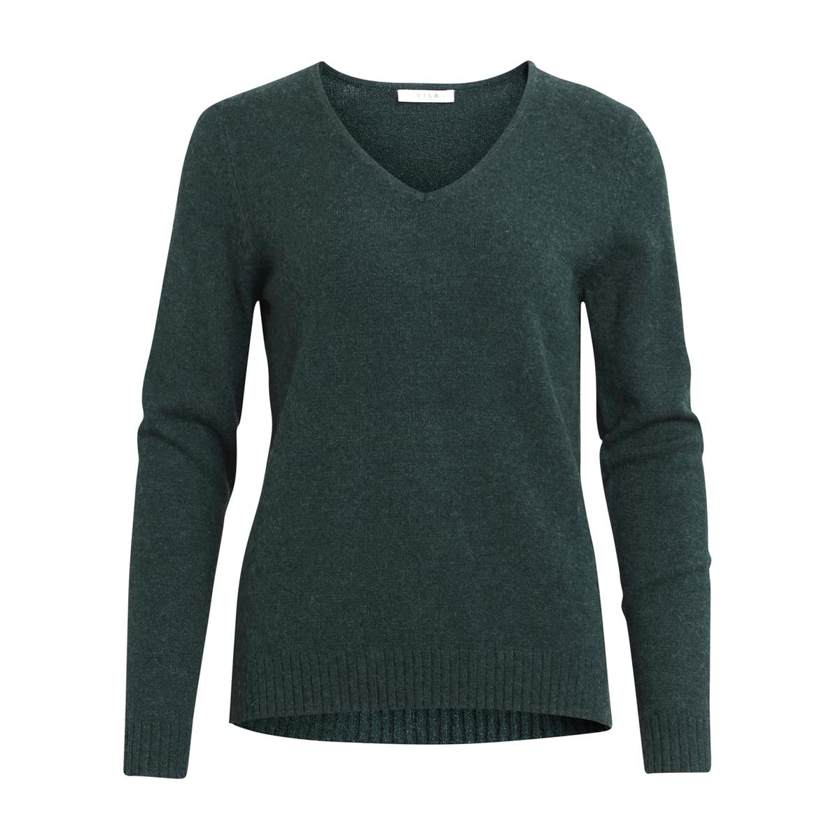 Пуловер из тонкого трикотажа с V-образным вырезомДетали •  Длинные рукава •   V-образный вырез •  Тонкий трикотаж Состав и уход •  50% вискозы, 27% полиамида, 23% полиэстера •  Следуйте советам по уходу, указанным на этикетке<br><br>Цвет: изумрудный,светло-серый меланж,черный<br>Размер: L.M