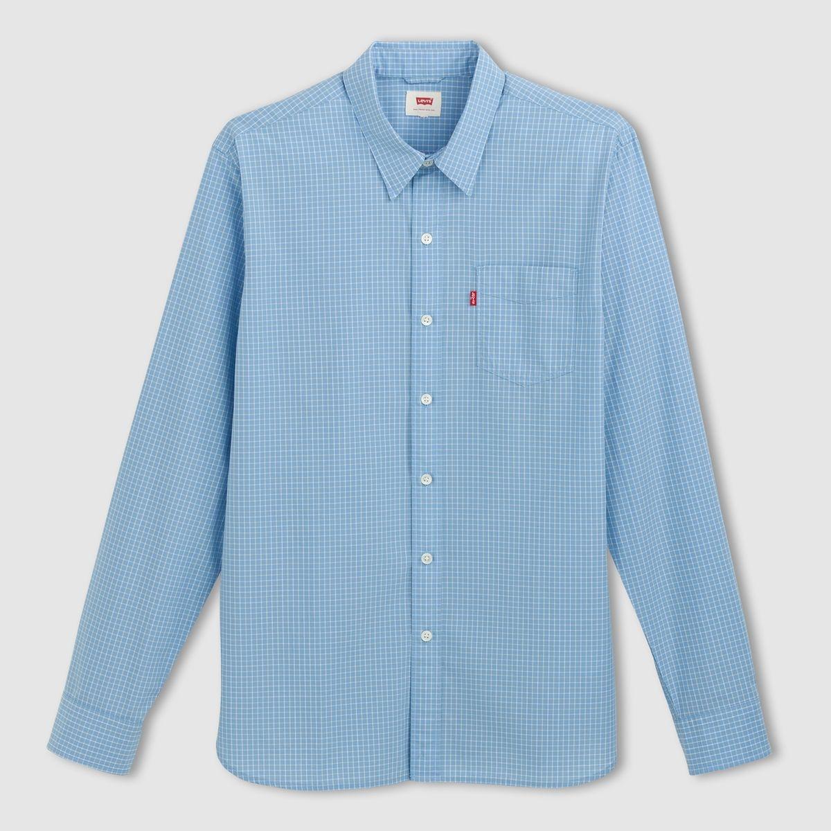 Chemise droite   Sunset One Pocket en coton  clair à carreaux