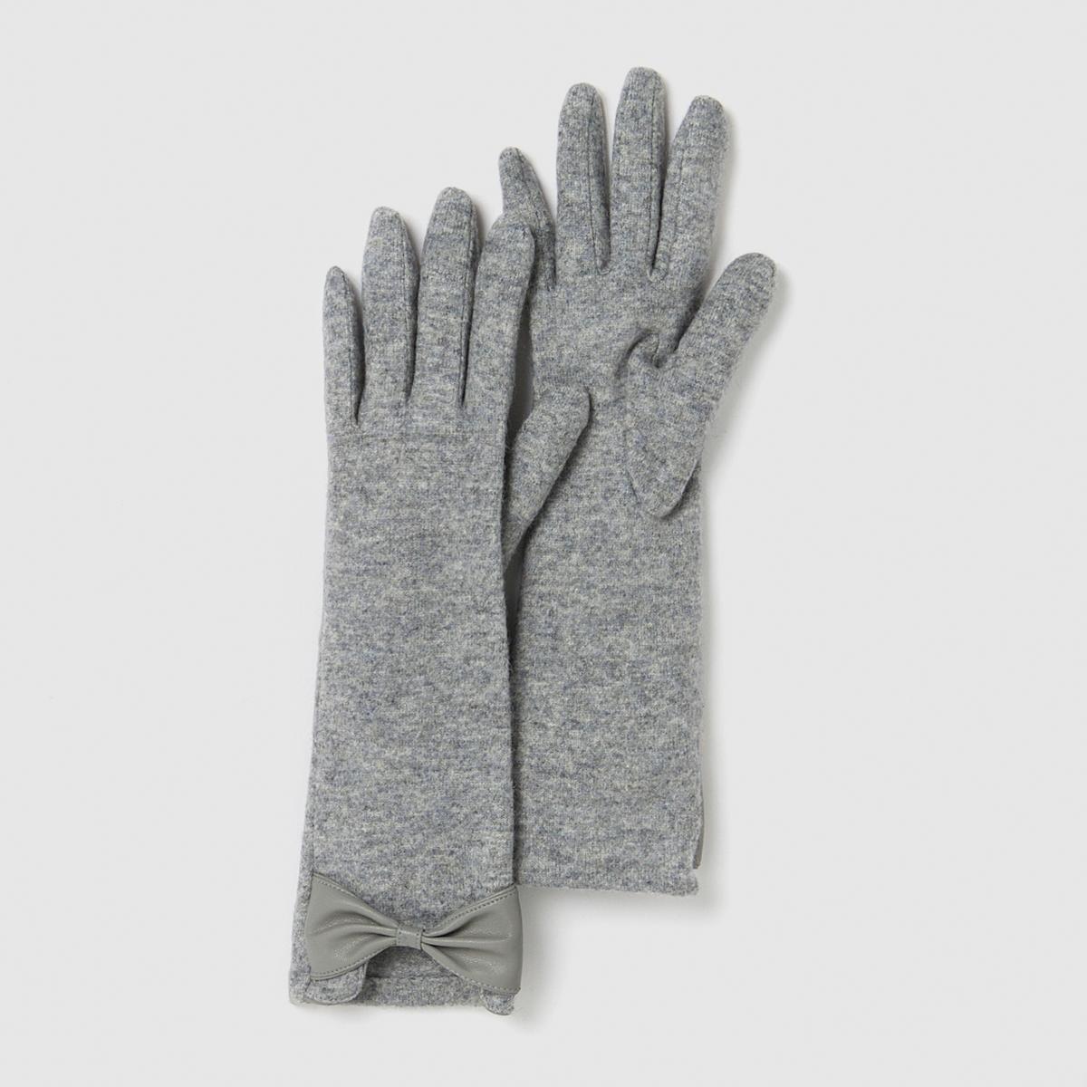 Перчатки - Atelier RПерчатки Atelier RМатериал: 80% полиэстера, 20% шерсти<br><br>Цвет: серый,черный