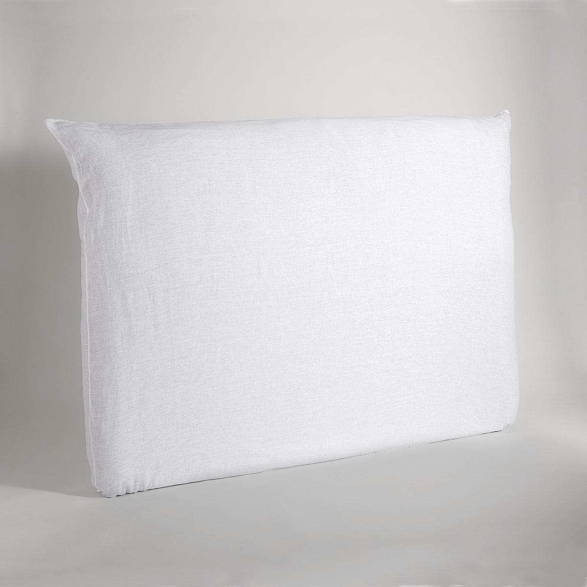 Чехол на изголовье кровати из стиранного льна, MeresonЛен. Простой уход, легкий жатый и стиранный эффект, мягкий, нежный современный материал, который со временем только становится лучше.Материал :- 100% лен.Уход : - Машинная стирка при 40 °C.Размеры : - Высота : 143 см- Длина :Для кровати T140 см : 184 смДля кровати T160 см : 204 смДля кровати T180 см : 224 смЗнак Oeko-Tex® гарантирует отсутствие вредных для здоровья веществ в протестированных и сертифицированных изделиях.<br><br>Цвет: антрацит,белый,серый,синий индиго