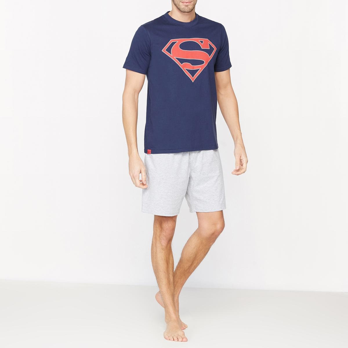 Пижама с шортами с рисунком