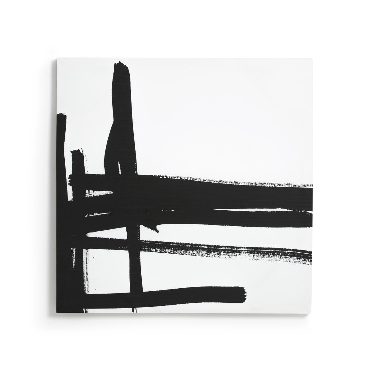 Картина, размер 2, DystilaРисунок на канве Dystila. Абстрактный черно-белый рисунок сочетается с рисунком 1 Dystila, продающимся на нашем сайте. 2 крючка для крепления к стене (болты и дюбели в комплект не входят). Размеры : Ш80 x В80 см.<br><br>Цвет: черный/ белый<br>Размер: единый размер