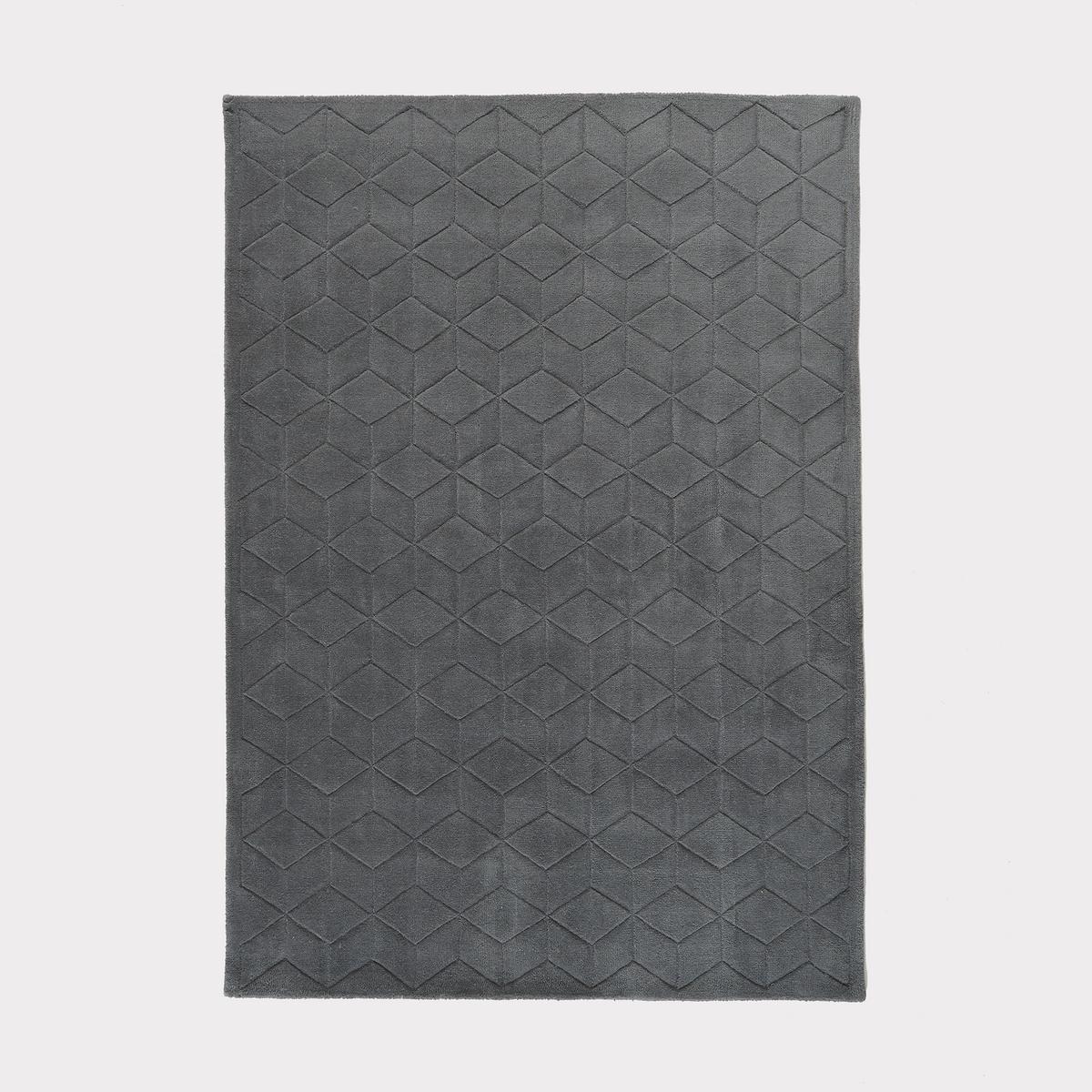 Ковер La Redoute С эффектом D Falke шерсть 120 x 170 см серый ковер la redoute горизонтального плетения с рисунком цементная плитка iswik 120 x 170 см бежевый