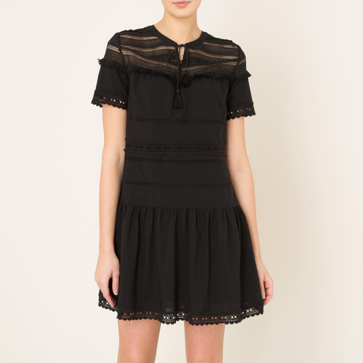 Платье SOPHIAСостав и описание    Материал : 100% хлопок   Марка : BERENICE<br><br>Цвет: черный