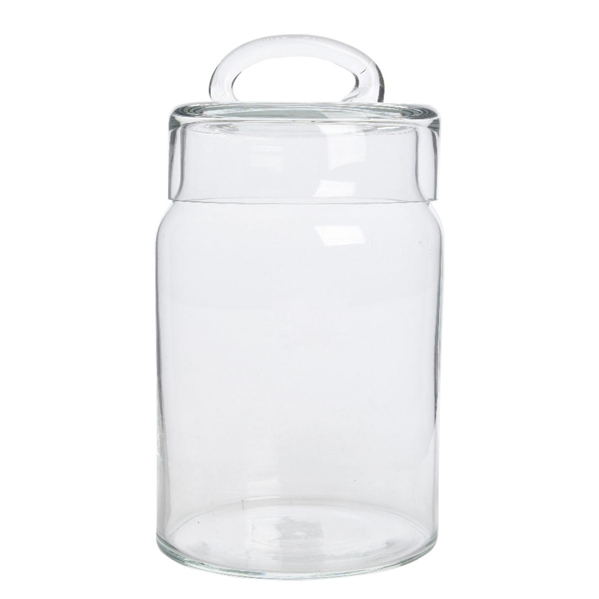 Горшок стеклянный для хранения диспенсер стеклянный с крышкой 28х22х32 см