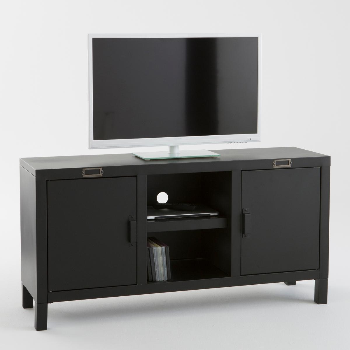 Тумба для ТВ, HibaОригинальная  тумба для TV Hiba из стали..Описание мебели Hiba :2 дверки с отделением для журналов2 ниши,2 отверстия для кабеля,1 съемная столешница за каждой дверкой.Характеристики мебели Hiba :Сталь с эпоксидным матовым покрытием,Экран до 50 дюймов (127 см)Макимальный. выдерживаемый вес: 40 кг Откройте для себя всю коллекцию  Hiba на сайте laredoute.ru.Размеры мебели Hiba:Общие :Ширина : 120 см.Высота : 60 смГлубина : 35 см.Центральные ниши:34,5 x 15 x 33 см Размеры упаковки :1 упаковка131 x 14 x 51 см22,65 кгДоставка :Мебель TV Hiba продается готовой к сборке. Доставка до квартиры!Внимание ! Убедитесь, что товар возможно доставить на дом, учитывая его габариты (проходит в двери, по лестницам, в лифты).<br><br>Цвет: черный