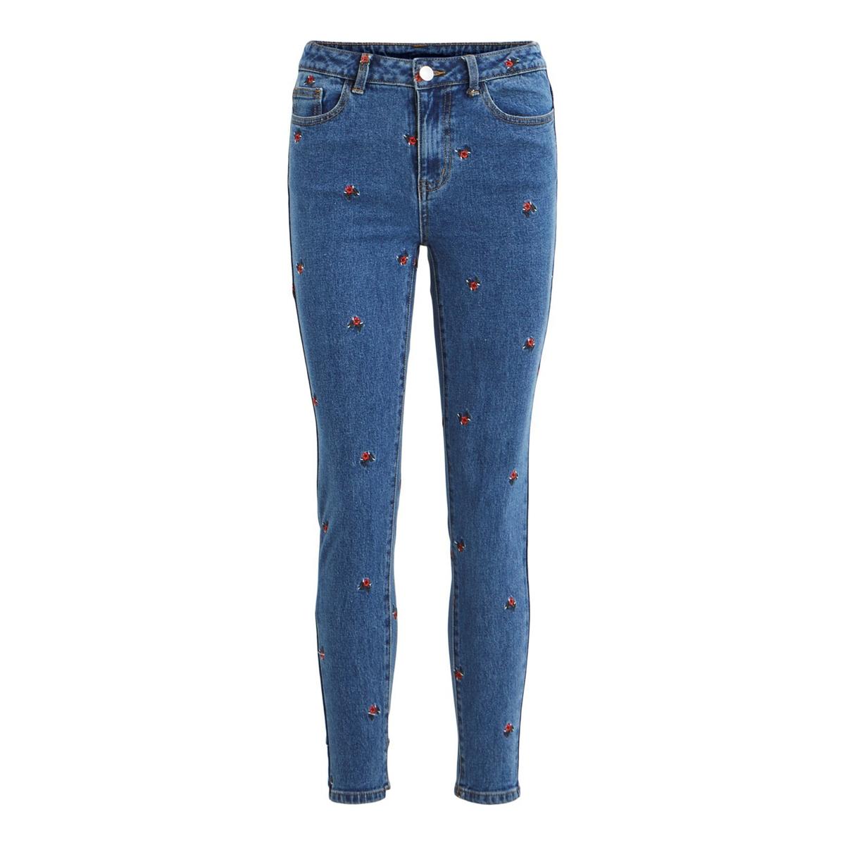 Джинсы La Redoute Узкие с вышитыми розами Visommer 28 (US) - 44 (RUS) синий джинсы la redoute узкие wilda 26 us 42 rus черный