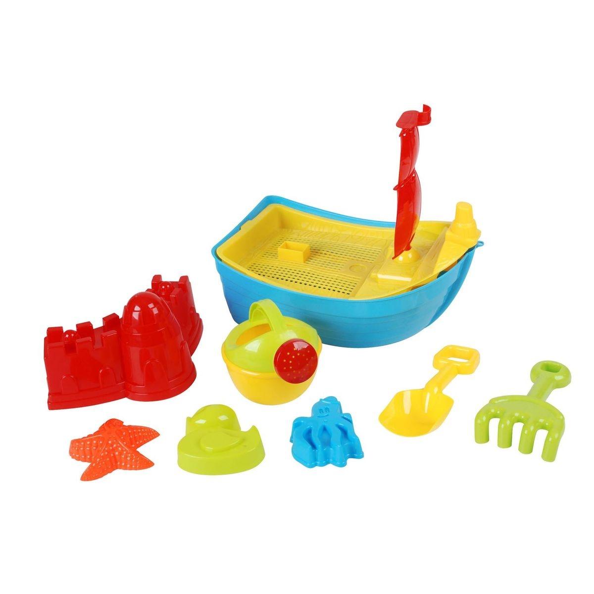 Set de plage bateau et accessoires - 8 pièces