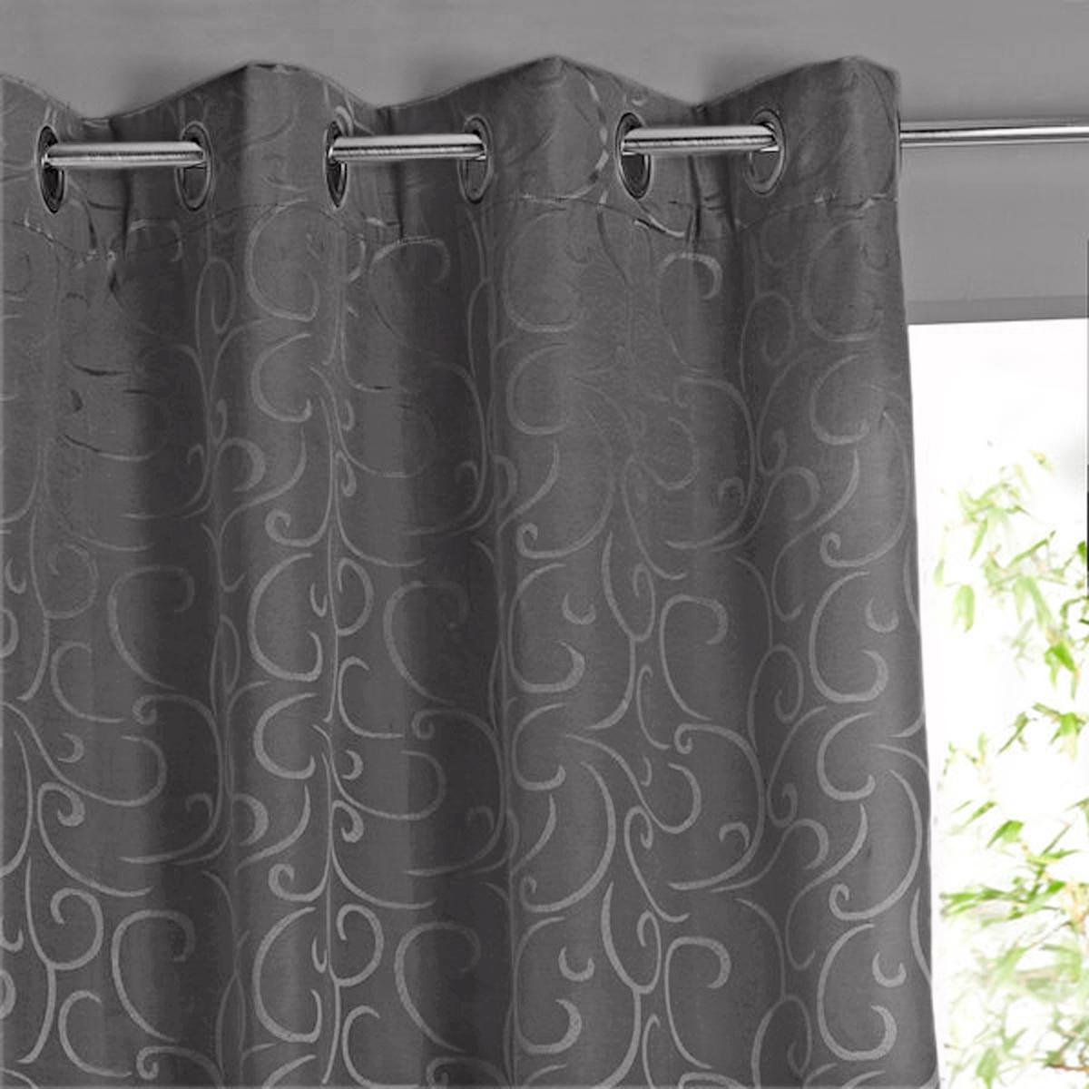 Штора La Redoute Затемняющая с люверсами BRIZA 350 x 140 см серый штора с люверсами 100% хлопок aron