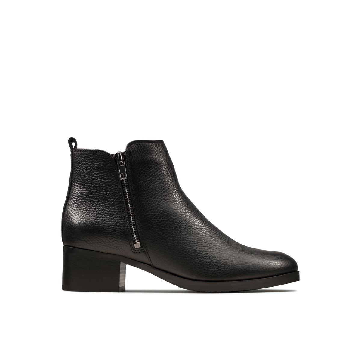 Ботинки La Redoute Кожаные на каблуке Mila Sky 41 черный lanvin кожаные туфли mila