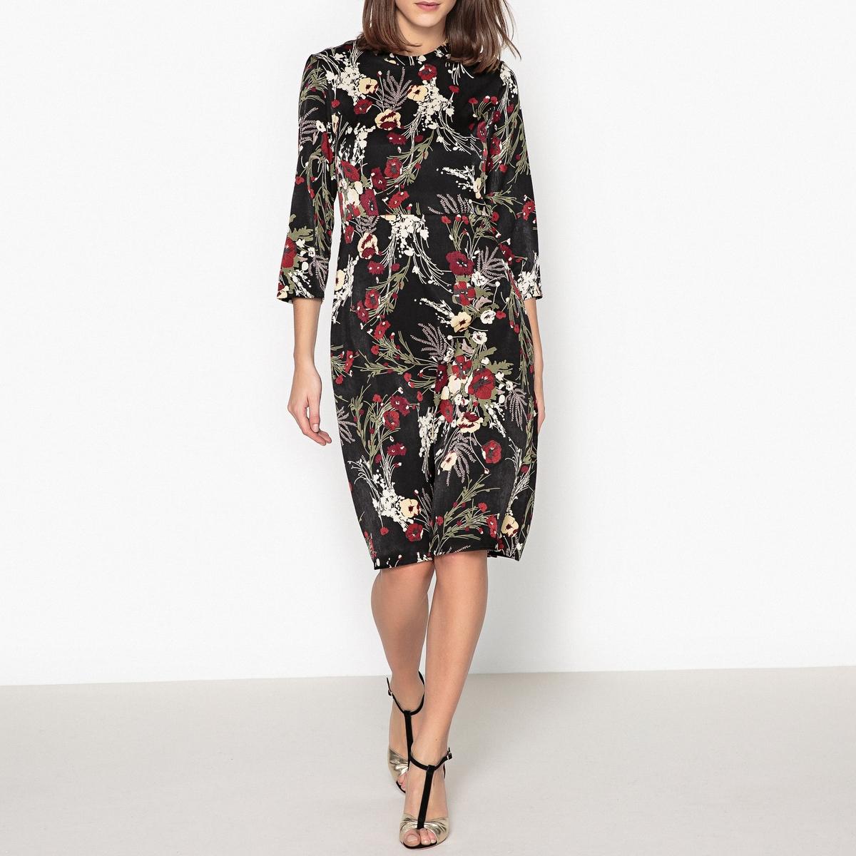 Платье прямое с рисунком и длиной миди KELLY от La Redoute