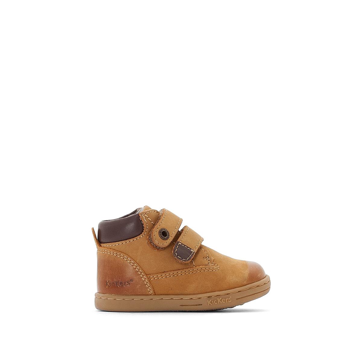 Boots pelle con patte a strappo Tackeasy