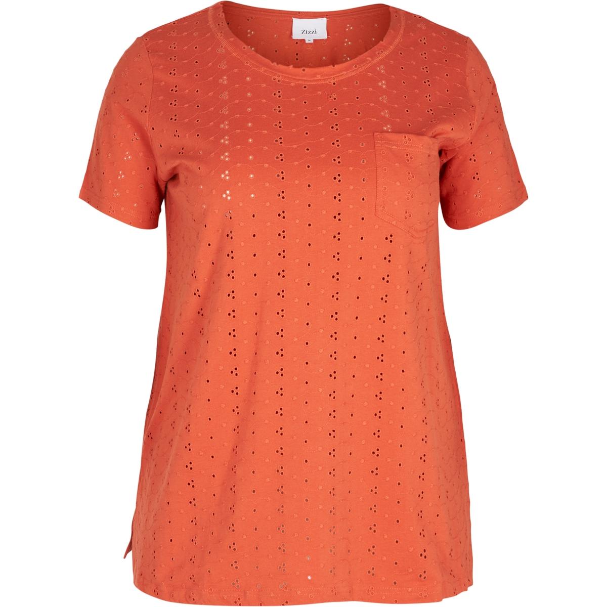 Футболка однотонная с круглым вырезом и короткими рукавами футболка с круглым вырезом и короткими рукавами