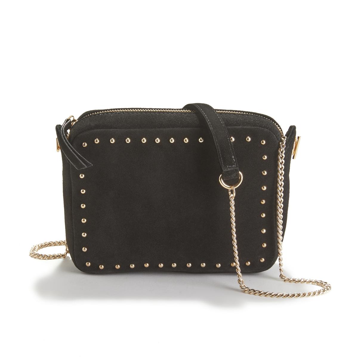 Сумка La Redoute Кожаная FOUDRE единый размер черный сумка la redoute из ткани с блестками h единый размер черный