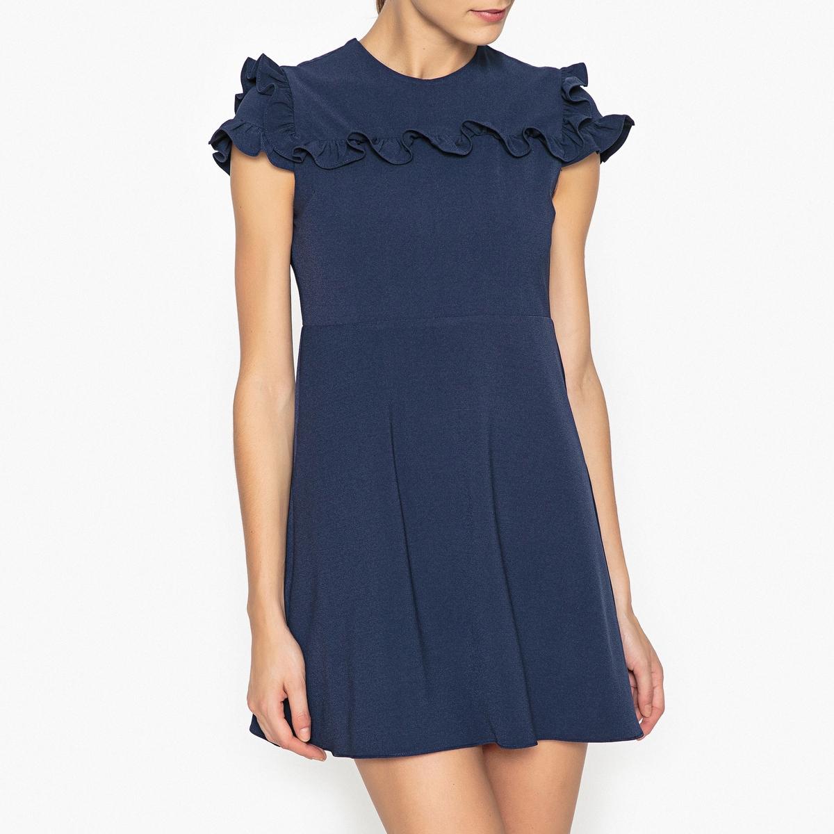 Платье короткое с воланами платье сзади с воланами запорожье