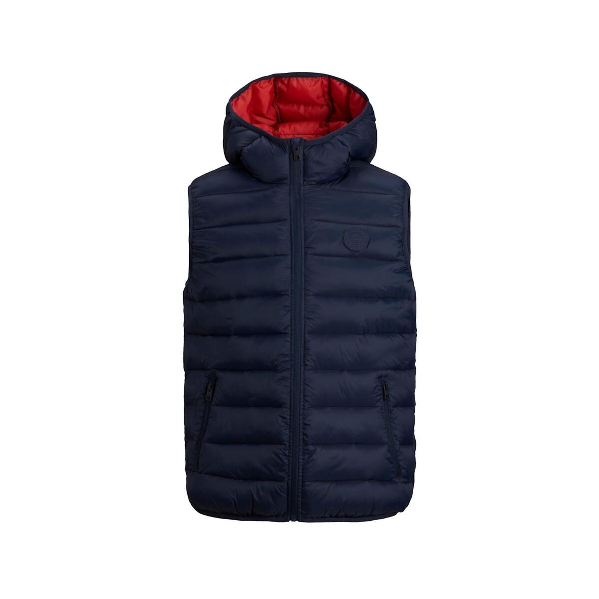 Куртка LaRedoute Стеганая без рукавов 10-16 лет 10 лет - 138 см синий куртка la redoute стеганая на молнии с капюшоном idaho 2 3xl синий