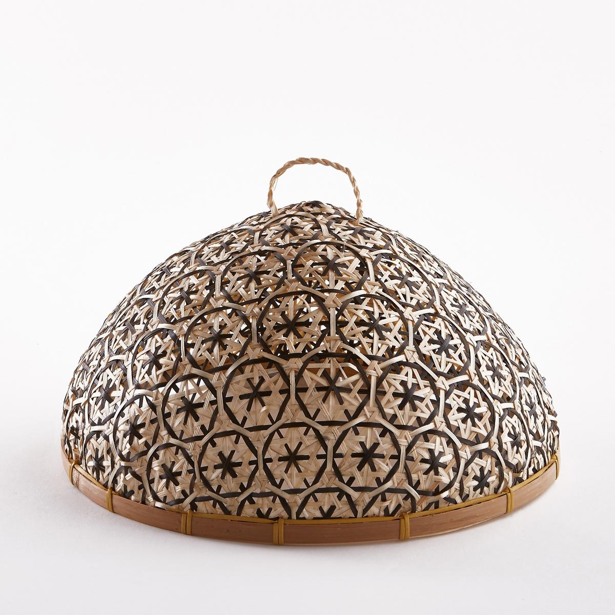 Колпак сырный IacoboСырный колпак Iacobo. Практичный и красивый как снаружи, так и внутри сырный колпак защитит Ваш сыр и другие продукты от насекомых. Красивое плетение ручной работы из натурального бамбука. Размеры  : ?31 x В19 см.<br><br>Цвет: бежевый/разноцветный,бежевый/черный<br>Размер: единый размер