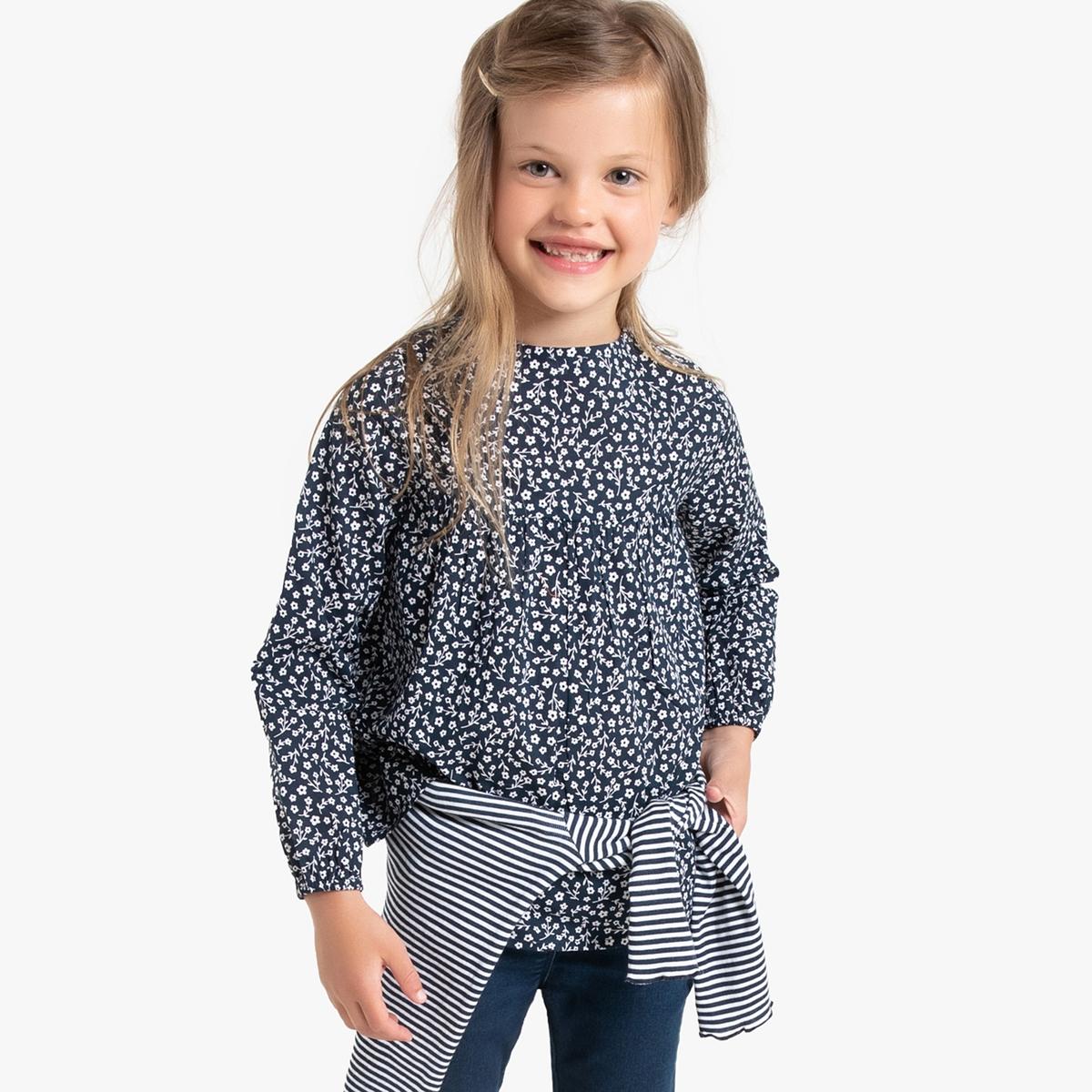 Блузка La Redoute С длинными рукавами и рисунком 12 лет -150 см другие блузка la redoute в полоску с длинными рукавами 12 лет 150 см другие