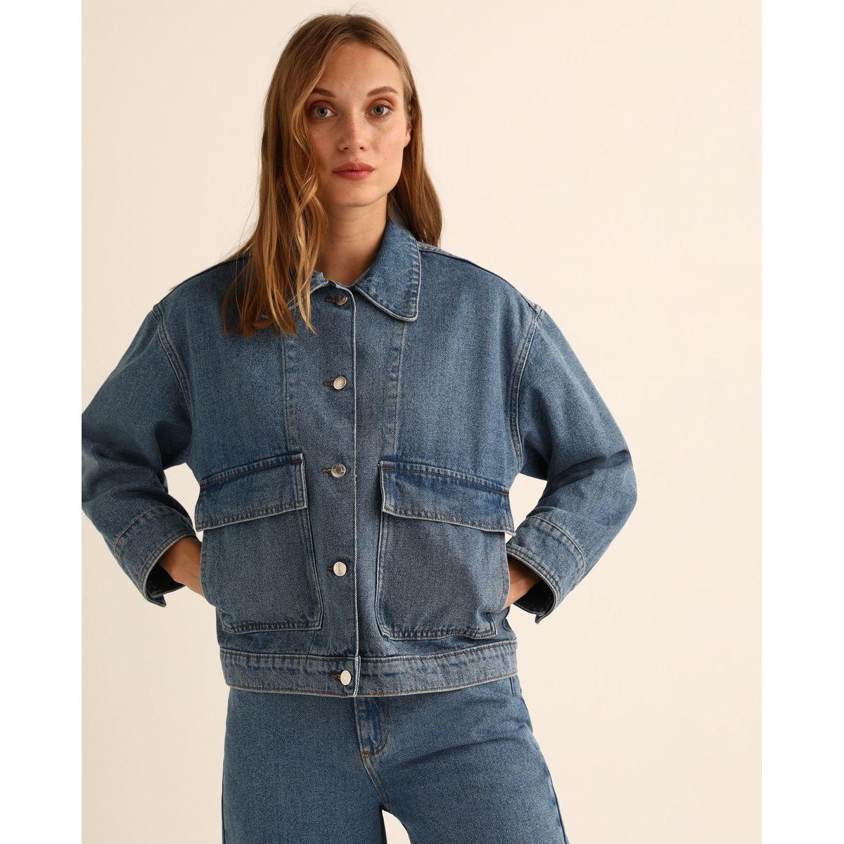 Veste en jean avec poches
