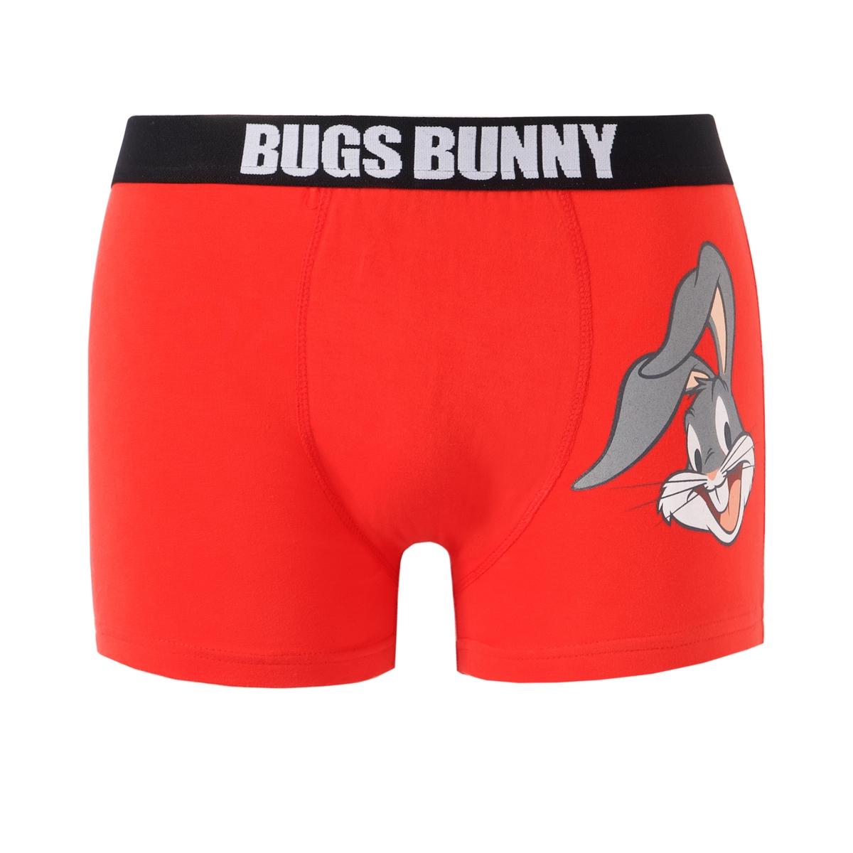 Трусы-боксеры  Bugs BunnyОписание:Трусы-боксеры Bugs Bunny с рисунком в виде знаменитого кролика сбоку и надписью Bugs Bunny на поясе: удобные и комфортные мужские трусы!Состав и описание :Материал : 95% хлопка, 5% эластана. Марка: Bugs BunnyУход :Машинная стирка при 30 °С на деликатном режиме с вещами схожих цветов.Допускается машинная сушка.<br><br>Цвет: красный<br>Размер: XXL.XL.L