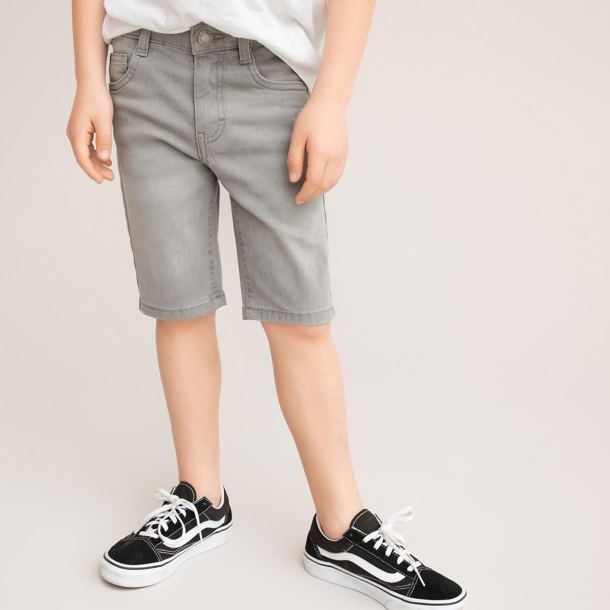 Бермуды LaRedoute Из джинсовой ткани 3-12 лет 3 серый