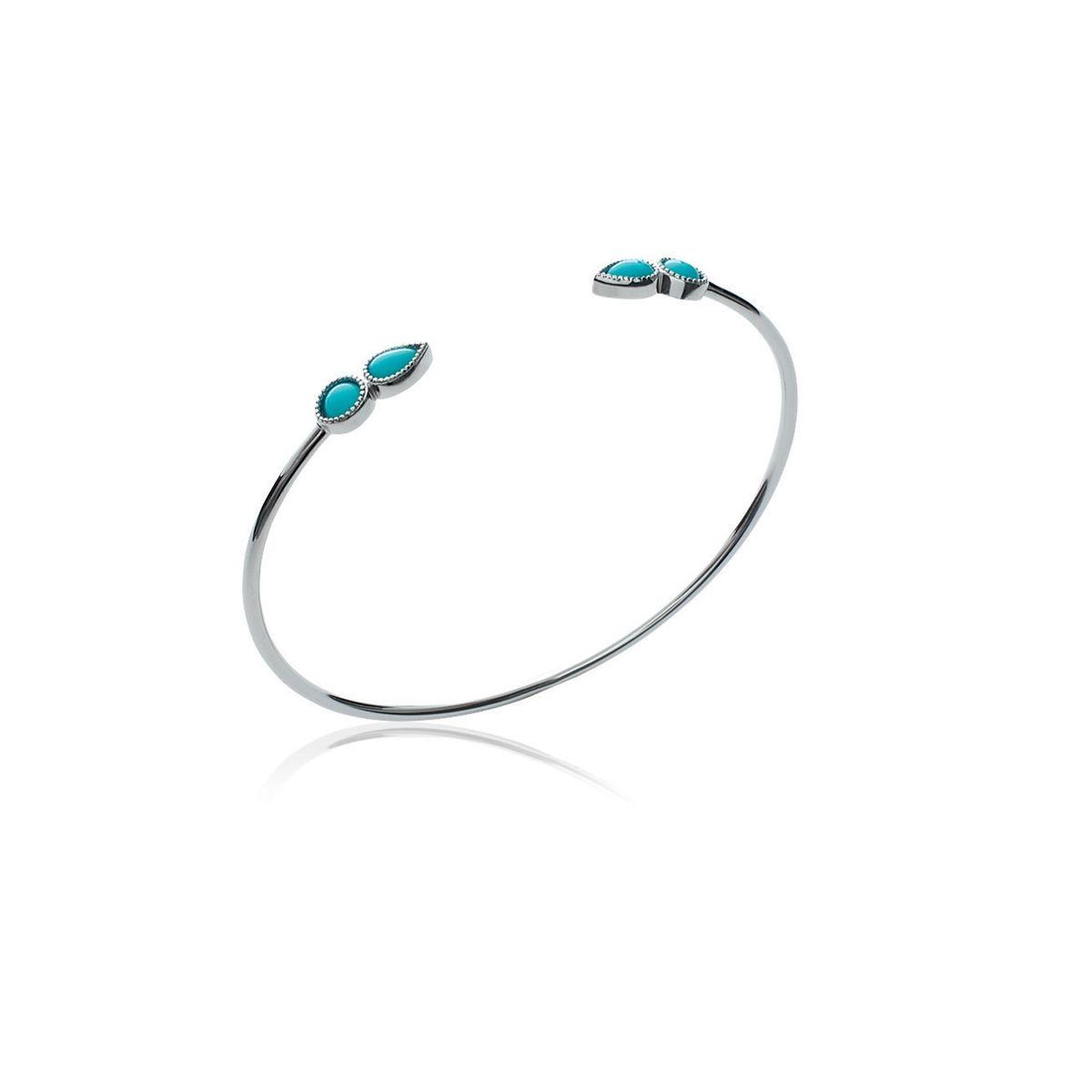 Bracelet Jonc 4 Pierres Bleues