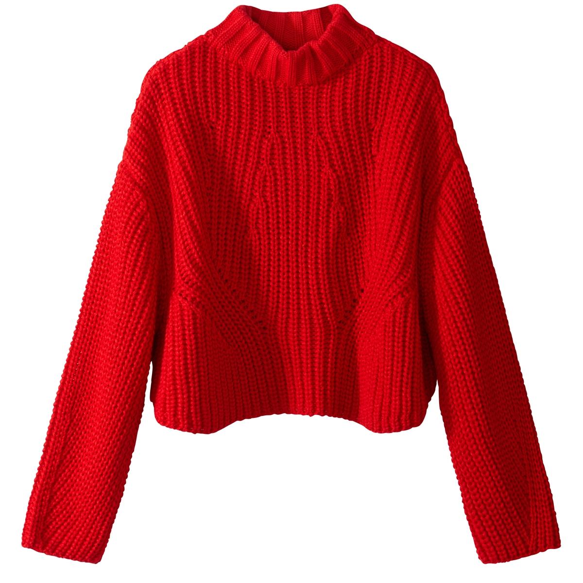 Пуловер из плотного трикотажа с воротником-стойкой пуловер из плотного трикотажа cameron