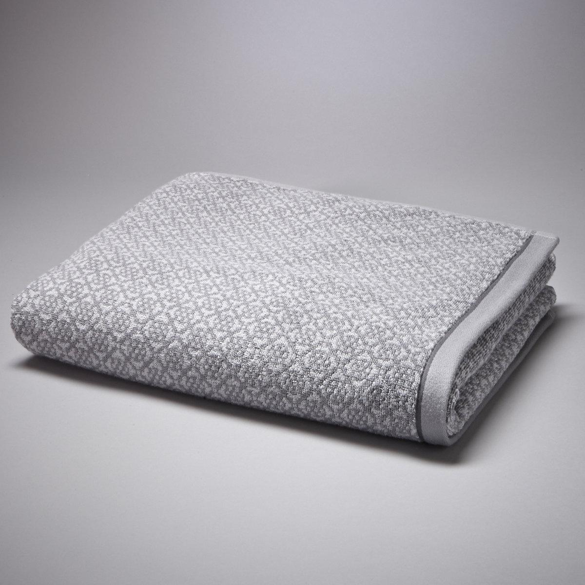Полотенце АЗЮЛЬЖОЖаккардовое полотенце, 100% хлопка, 500 г/м?. Мягкая, нежная, впитывающая махровая ткань.Контрастные восточные мотивы. Однотонные полоски по краям. Стирка при 60°.Размеры полотенца: 50 x 100 см.<br><br>Цвет: серый,синий