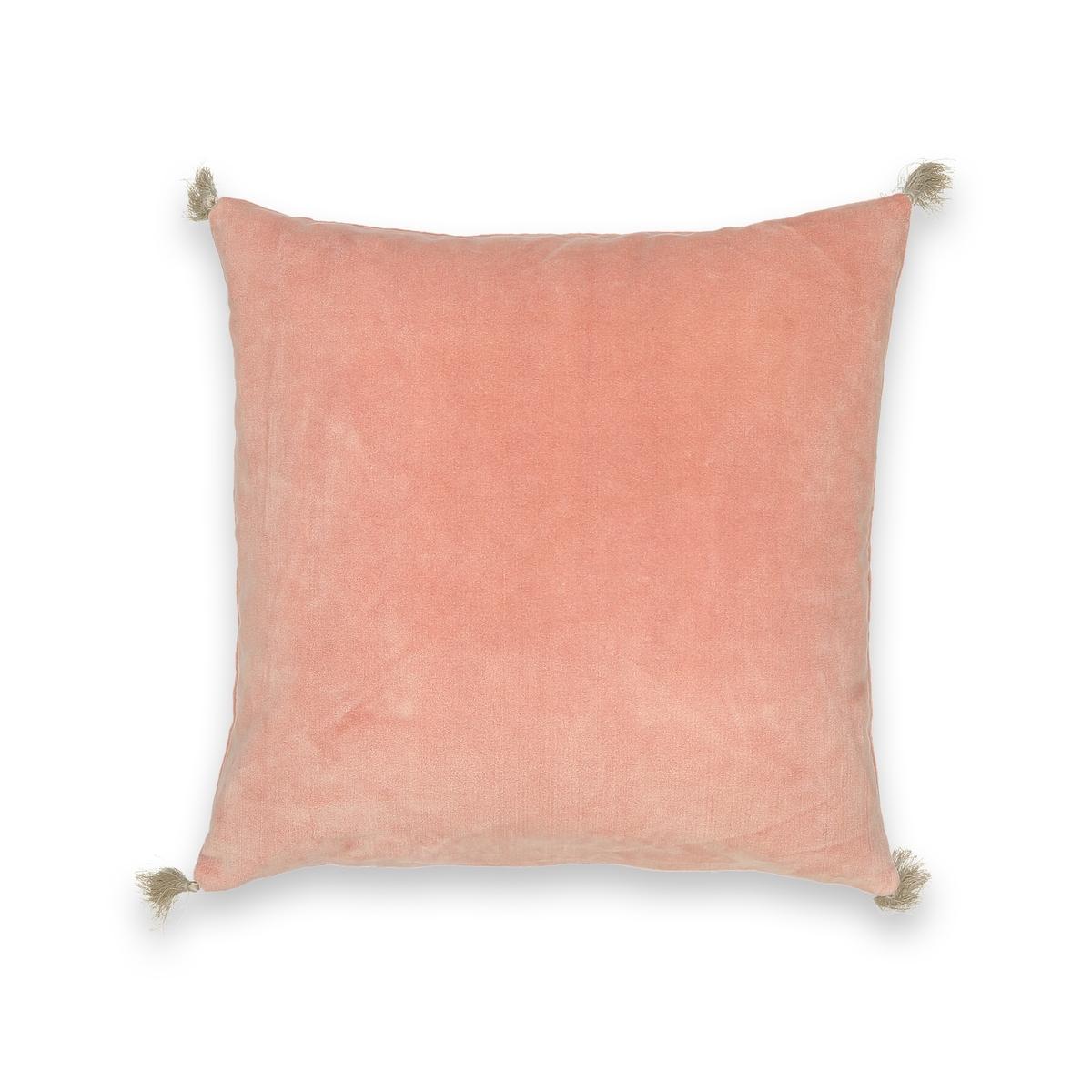 Наволочка LaRedoute Велюровая с эффектом старины Cacolet 50 x 30 см розовый