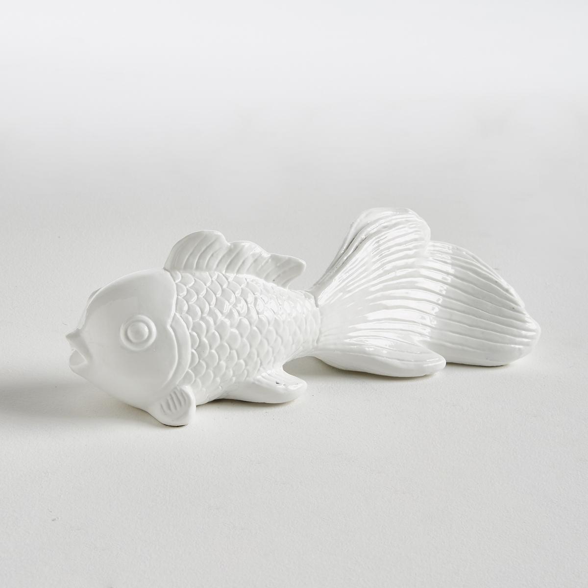 Рыба керамическая эмалированная CarassiusДекоративная рыба Carassius. Символ удачи в Азии, эта рыба придаст экзотики вашему декору.Характеристики :- Эмалированная керамикаРазмеры : - Д35 x В12,5 x Г11 см<br><br>Цвет: белый,красный<br>Размер: единый размер